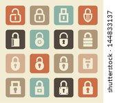 set of lock icons | Shutterstock .eps vector #144833137