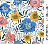 trendy seamless floral ditsy... | Shutterstock .eps vector #1448332874