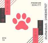 paw icon symbol. graphic... | Shutterstock .eps vector #1448340707