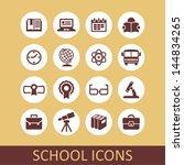 school icons | Shutterstock .eps vector #144834265