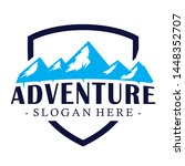 mountain camp and adventure... | Shutterstock .eps vector #1448352707