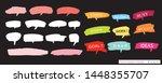 hand drawn set of speech... | Shutterstock .eps vector #1448355707