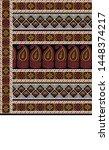textile pallu art design for... | Shutterstock . vector #1448374217