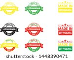 made in lithuania collection of ... | Shutterstock .eps vector #1448390471