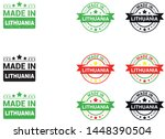 made in lithuania collection of ... | Shutterstock .eps vector #1448390504