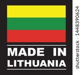 made in lithuania collection of ... | Shutterstock .eps vector #1448390624