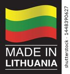 made in lithuania collection of ... | Shutterstock .eps vector #1448390627