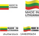 made in lithuania collection of ... | Shutterstock .eps vector #1448390654