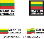 made in lithuania collection of ... | Shutterstock .eps vector #1448390657