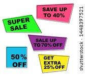 set of summer sale stickers.... | Shutterstock .eps vector #1448397521