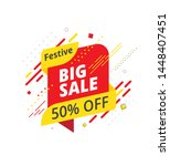 big sale  offer banner  sticker ... | Shutterstock .eps vector #1448407451