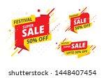 festive big sale  offer banner  ... | Shutterstock .eps vector #1448407454