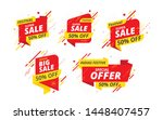 big sale  offer banner  sticker ... | Shutterstock .eps vector #1448407457