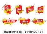 big sale  offer banner  sticker ... | Shutterstock .eps vector #1448407484