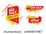 big sale  offer banner  sticker ... | Shutterstock .eps vector #1448407487