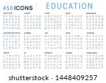 collection of line icons of... | Shutterstock . vector #1448409257
