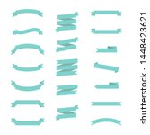 flat ribbon banners isolated on ...