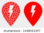 dotted and flat electric map... | Shutterstock .eps vector #1448431397