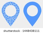 pixel and flat map marker icons.... | Shutterstock .eps vector #1448438111