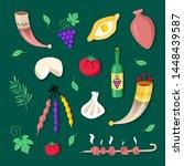 georgian national cuisine and... | Shutterstock .eps vector #1448439587