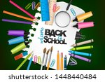 welcome back to school concept... | Shutterstock .eps vector #1448440484