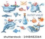 Watercolor Fantasy Cartoon Set  ...