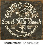 vector illustration drawing.california surf beach. summer tropical heat print