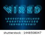 glowing 3d futuristic sci fi...   Shutterstock .eps vector #1448508047
