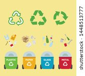 recycling garbage separation... | Shutterstock .eps vector #1448513777