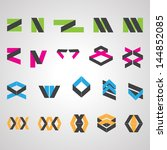 abstract icons set   isolated... | Shutterstock .eps vector #144852085