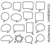 blank white speech bubbles set... | Shutterstock .eps vector #1448584151