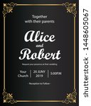 wedding invitation cards with a ...   Shutterstock .eps vector #1448605067