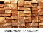 pile of wood construction | Shutterstock . vector #144860824