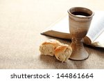 communion still life   wine ... | Shutterstock . vector #144861664