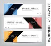 abstract web banner template ... | Shutterstock .eps vector #1448619914