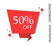 special sale discount sticker... | Shutterstock .eps vector #1448621504