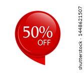 special sale discount sticker... | Shutterstock .eps vector #1448621507