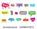 hand drawn set of colorful... | Shutterstock .eps vector #1448647871