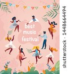best music festival vertical... | Shutterstock .eps vector #1448664494
