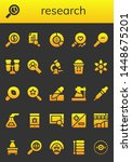 research icon set. 26 filled... | Shutterstock .eps vector #1448675201
