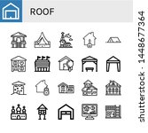 set of roof icons such as... | Shutterstock .eps vector #1448677364
