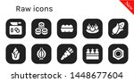 raw icon set. 10 filled raw...   Shutterstock .eps vector #1448677604