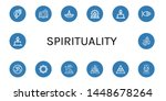 set of spirituality icons such... | Shutterstock .eps vector #1448678264