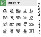 set of shutter icons such as... | Shutterstock .eps vector #1448678531