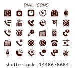 dial icon set. 30 filled dial... | Shutterstock .eps vector #1448678684