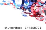 red  white and blue stars and... | Shutterstock . vector #144868771