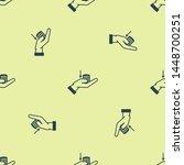blue money on hand icon...   Shutterstock .eps vector #1448700251