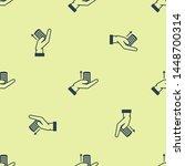 blue money on hand icon...   Shutterstock .eps vector #1448700314