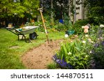 Work In Garden Digging New...