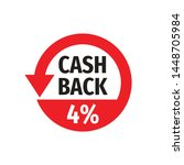 cash back 4  money refound  ... | Shutterstock .eps vector #1448705984